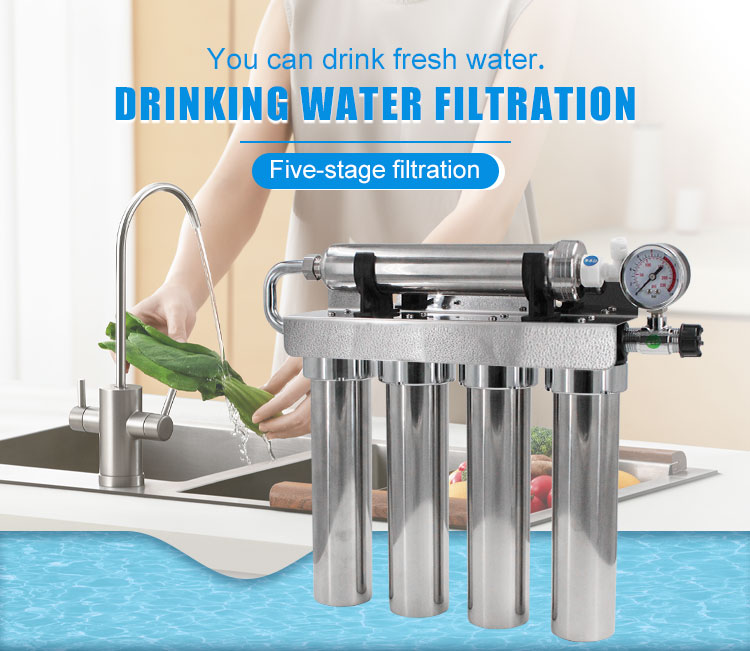 5-stage water filter poster