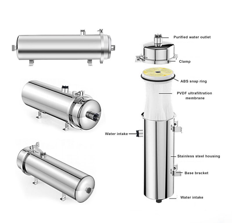Household ultrafiltration water filter parts