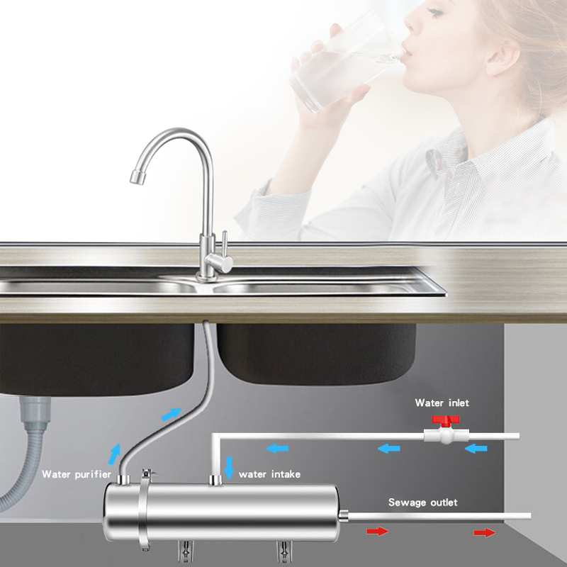 Household ultrafiltration water filter